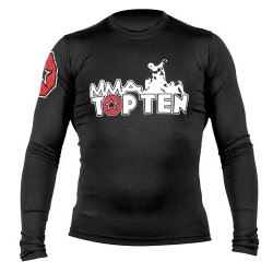 Rash Guard TOP TEN MMA long sleeve black