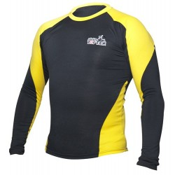 Rash Guard TOP TEN MMA long sleeve black/yellow