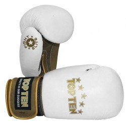 "Boxing gloves TOP TEN ""Fight Elite"" white/golden 10oz"