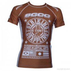 "Rashguard ""Grand Prix"" marron"