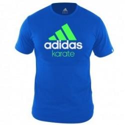Adidas Community T-Shirt Bleu / Vert KarateZoom