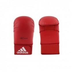 Adidas WKF Gant de Karaté Sans Pouce Rouge