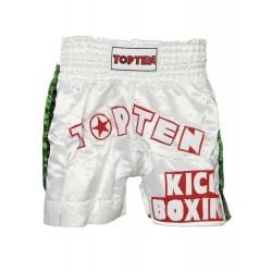 Kickbox-shorts Top Ten Kickboxing Blanc