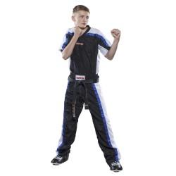 T-shirt À Col En V Pour La Veste Kickboxing Mesh - Noir-blanc