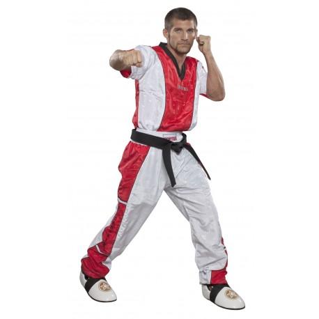 Kickboxing Pantalon Pour Enfants Blanc-rouge
