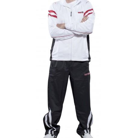 Combinaison Survêtement Elite Slimfit Pour Femmes Blanc Rouge