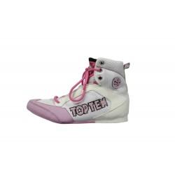 Chaussures De Boxe Blanc / Rose