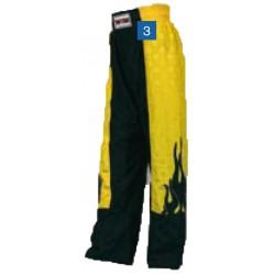 """Kickboxpants """"Flame"""" yellow/black"""
