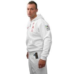 ZIP Hoodie ITF Taekwon-Do Blanc / Rouge