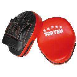 Handpratzen Focus Mitt - Rot-schwarz Noir Rouge