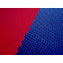 """""""Double Competition"""" redt/blue 100 cm x 100 cm x 2 cm"""