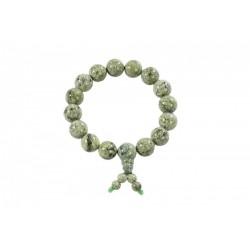 Bracelet Shaolin pierre verte Kwon