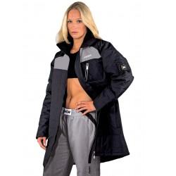Longue veste chaude noir/gris Kwon
